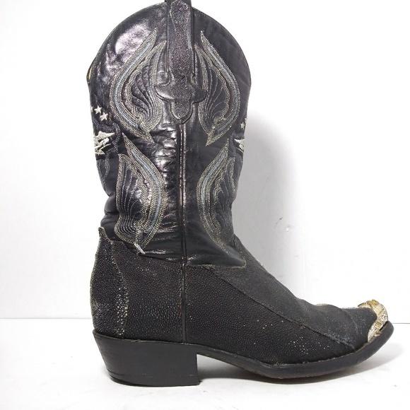 f8134f165c9 EL GENERA1901Black Stingray&Leather Boots S8/27MEX